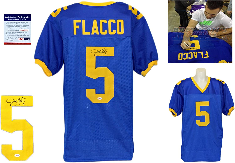 Joe Flacco Signed Custom Jersey - PSA/DNA - Autographed w/ Photo ...