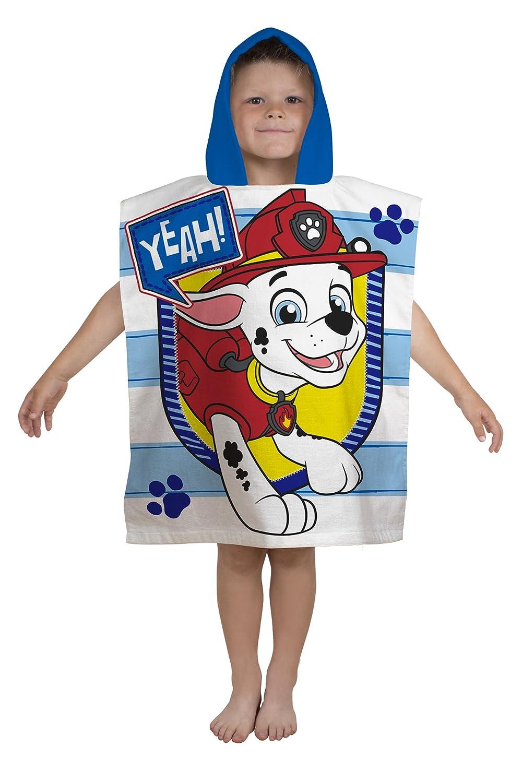 Paw Patrol Children's Poncho Towel, Blue, 115 x 50 cm Character World PAWPEETW002UK