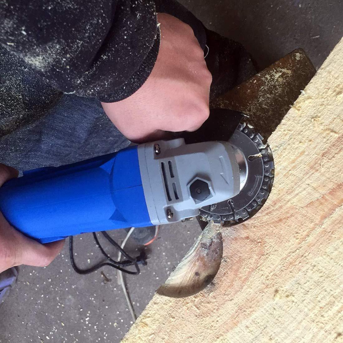cadena 22 diente bien cortar cadena 4 pulgadas Grinder disco multi funcion de madera para 100//115 amoladora amoladora