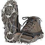 Terra Hiker Ramponi 18 Punte, in Acciaio Inossidabile, Scarpetta per Non Scivolare sul Ghiaccio e per Avere trazione sulla Neve