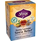 Yogi tea - Honey Lavender Stress Relief, Helps to Calm and Ease Tension (16 Tea Bags) (Pack of 4)