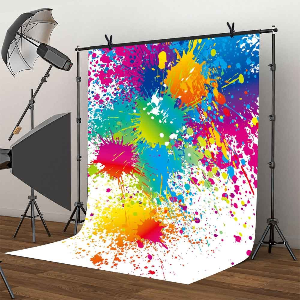 MME 5x7Ft Colorful Splatter Background Abstract Background Video Studio photograph backdrop LXME466