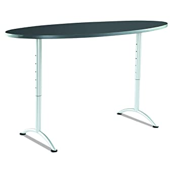Amazoncom Iceberg ICE ARC Foot Adjustable Height Oval - Oval conference table for 6