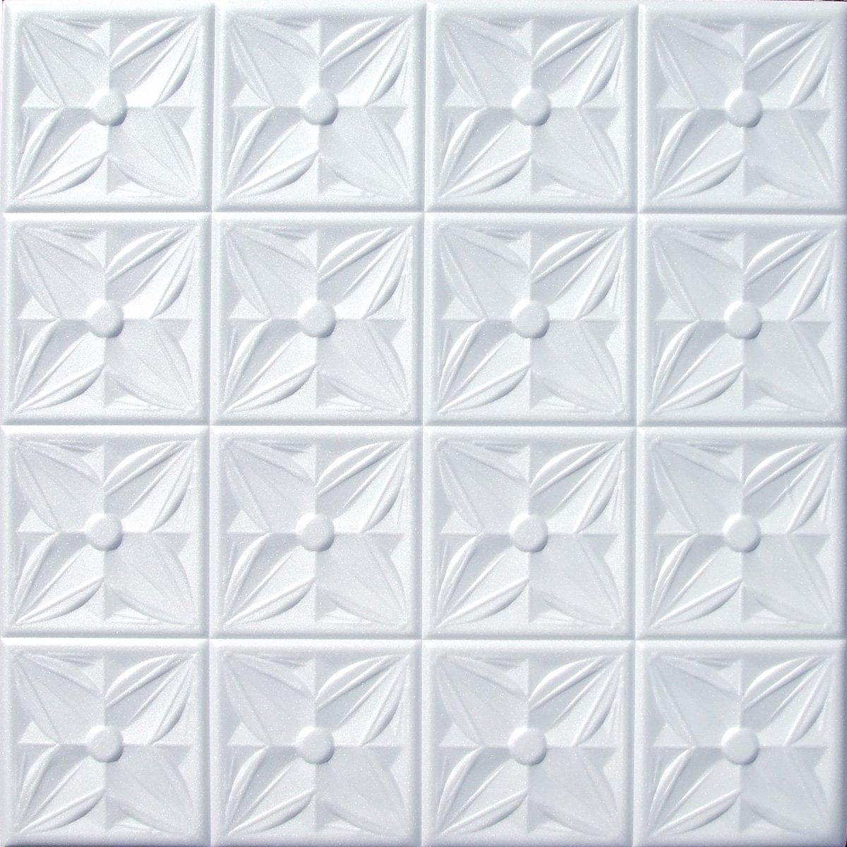Amazon faux ceiling tile 20x20 margaretta white foam home amazon faux ceiling tile 20x20 margaretta white foam home kitchen dailygadgetfo Choice Image