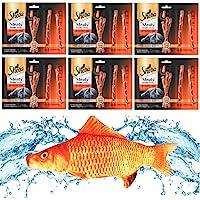 "Kitti Variety Pack Bundle Including (1) 7.5"" Triple Strength Catnip Toys and (6) 5 Packs of Sheba Meaty Tender Sticks…"