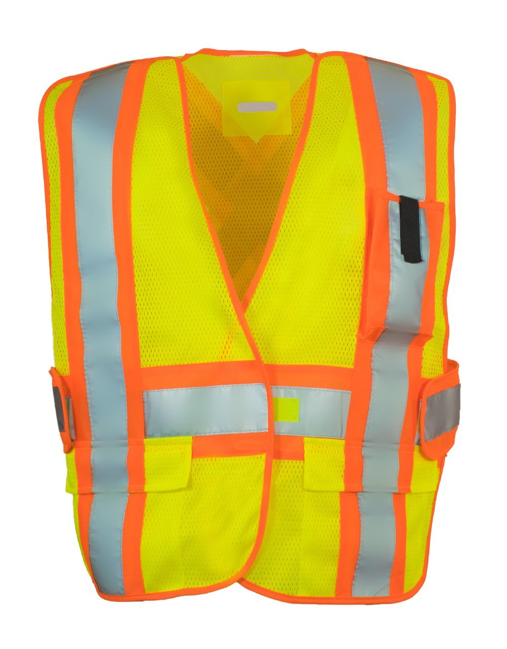 5-Point Tear-away Hi Vis Mesh Traffic Safety Vest, One-Size