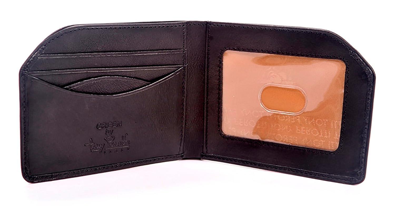 Tony Perotti Italian Leather Slim Front Pocket Bifold Edge Wallet
