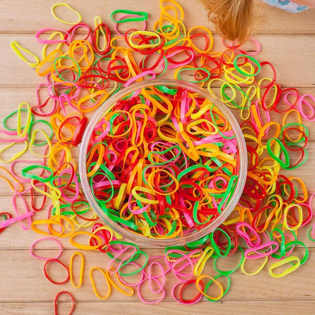 1000Pcs Women Girl Small Elastic Rubber Band Ponytail Holder Hair Ties Ropes Hot