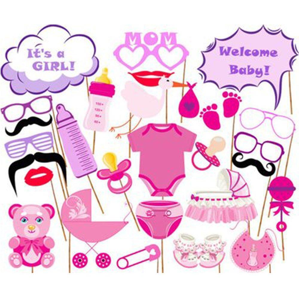 Mädchen Babyparty Foto Requisiten Lustige Abstimmung Themen Mädchen ...