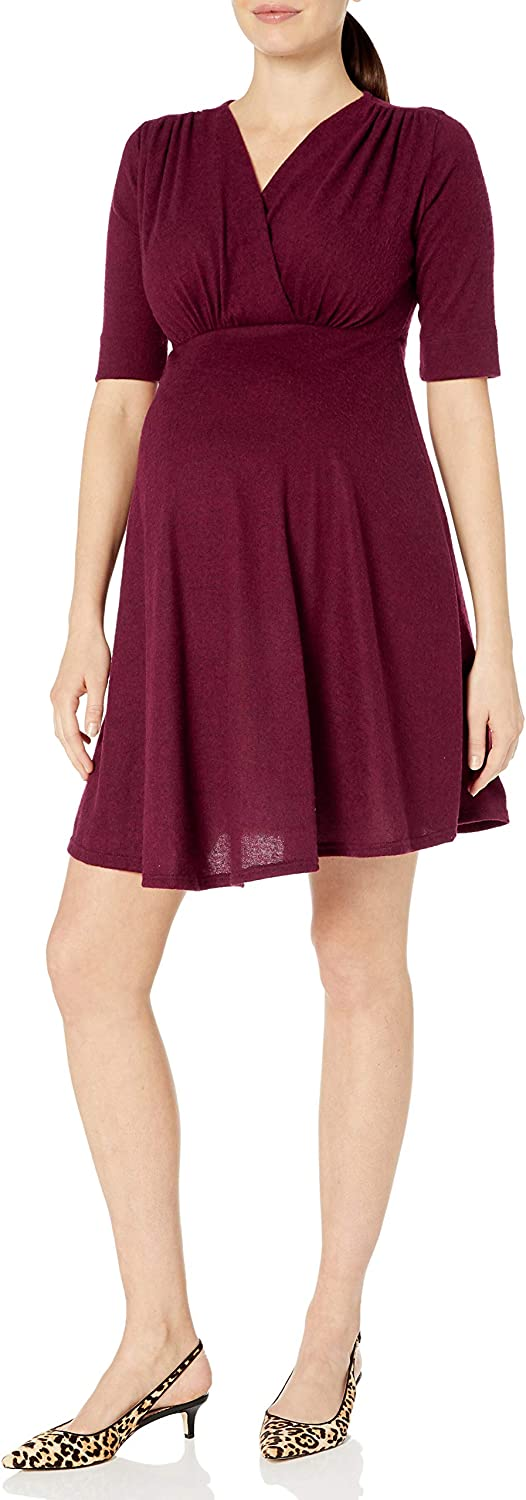 Maternal America Women's 3/4 Sleeve Maternity/Nursing Dress