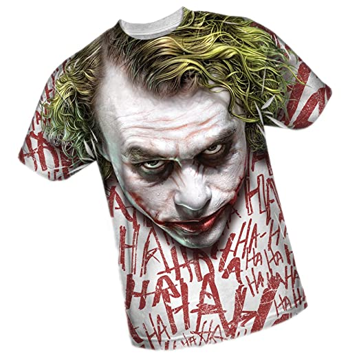 Joker Face -- The Dark Knight All-Over Front Print Sports Fabric T-