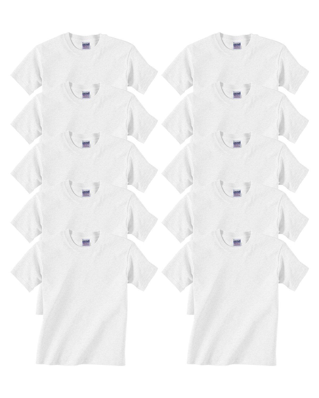 Gildan Youth Heavy Cotton T-Shirt, White, Medium ( Pack10 )
