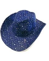 Navy Sparkle Western Hat