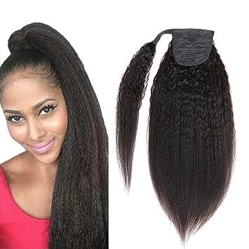 Amazon kinky yaki straight ponytail hair extensions human kinky yaki straight ponytail hair extensions human hair double weft brazilian unprocessed virgin hair clip ins pmusecretfo Images