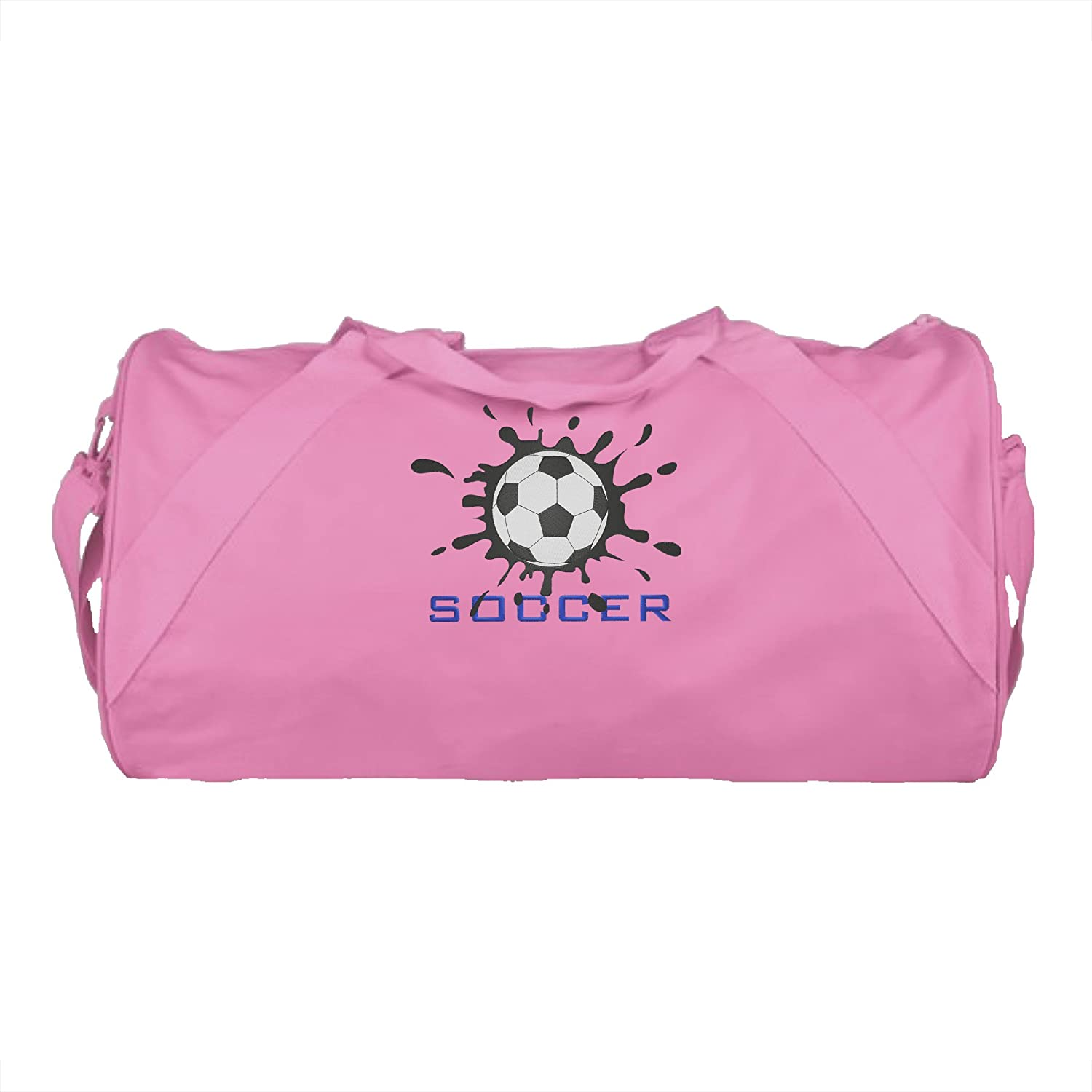 QUALITY Durable Duffel Name Soccer Splat Design Personalized Embroidered