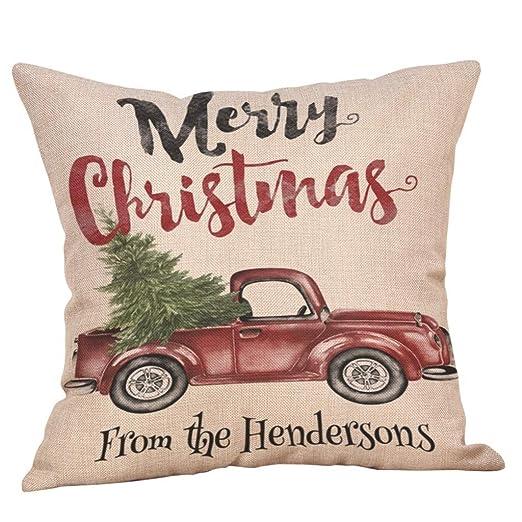 Fundas De Cojines 45 x 45 cm,Feliz Navidad Fundas De ...