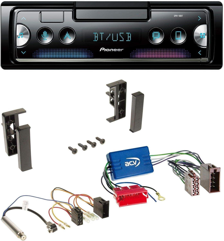 A6 C5 01-05 8L 00-03 Pioneer MVH-S300BT MP3 Bluetooth AUX USB Autoradio f/ür Audi A3