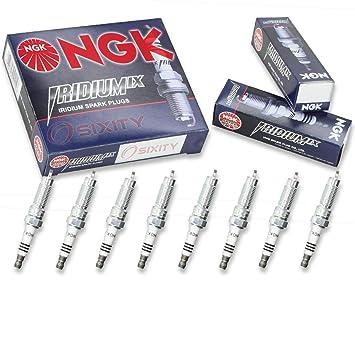 NGK Iridium IX - Juego de bujías Ford F-150 08 - 10 Flex Gas 5.4L 4.6L V8 Vin 8: Amazon.es: Coche y moto