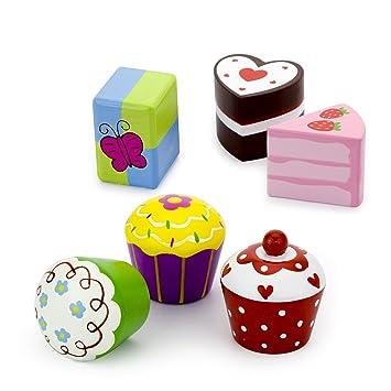 Vortigern V51025 6 Nette Kuchen Cupcakes Torte Aus Holz