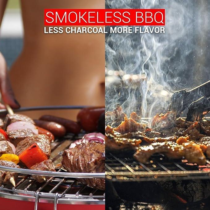 foggo Grill - Barbacoa de carbón sin humo y portátil ...