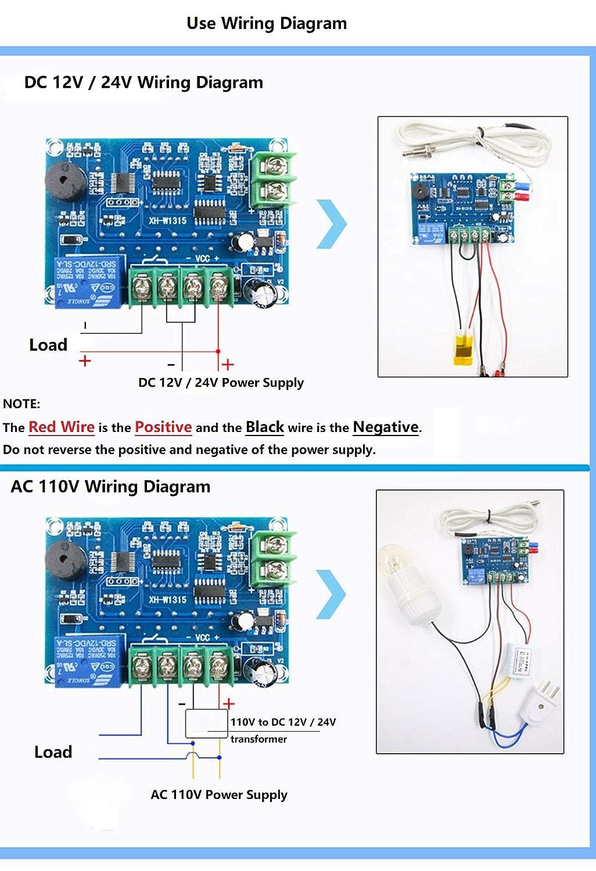 Amazon.in: Buy LM YN Digital Thermostat K-type DC 24V Red light (-30 ...