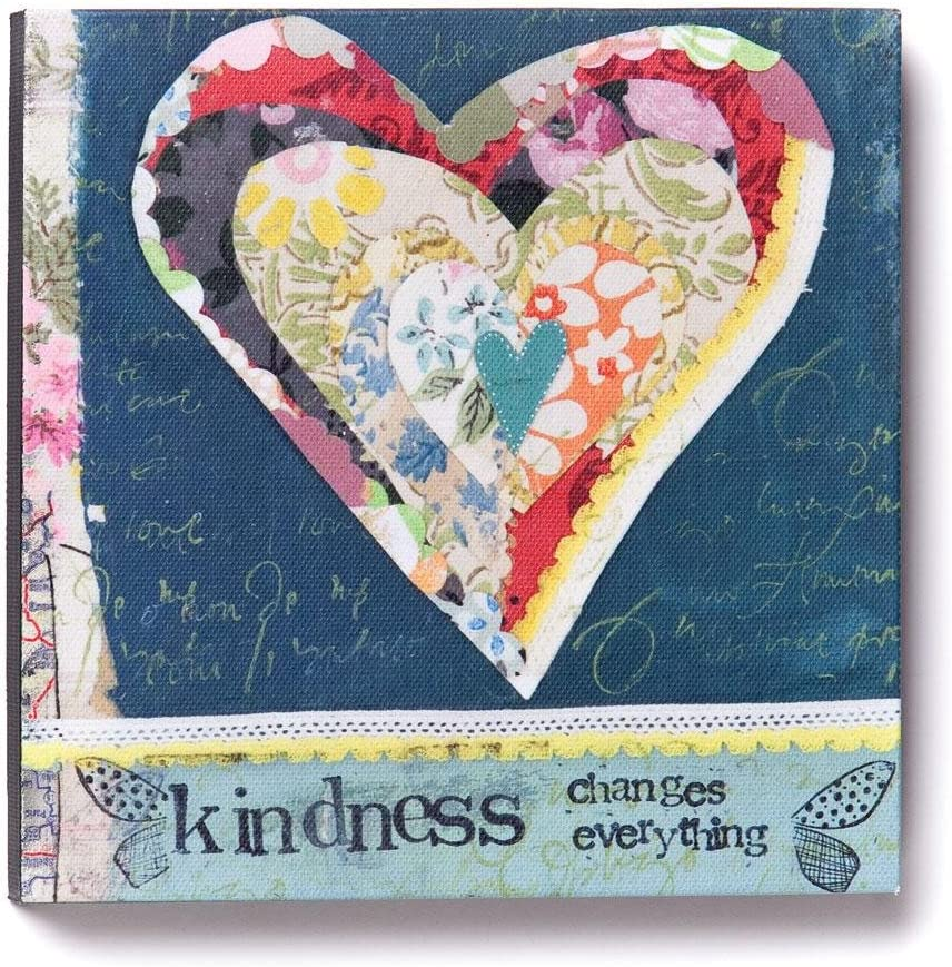 DEMDACO Kelly Rae Roberts Kindness Changes Everything Wall Art, 6-Inch
