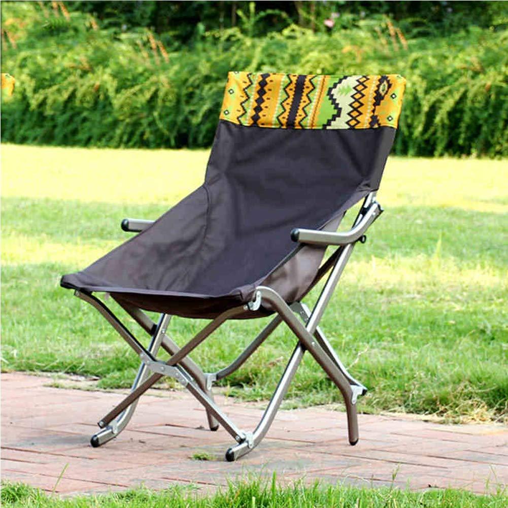 Chaise de Camping, Festival de Plage en Plein air avec Sac, Chaise Pliante portative pour la randonnée, Le Camping, la Chasse, Le Soccer, la pêche, Pique-Nique, Barbecue - Grand Petit  L
