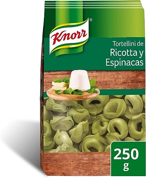 Knorr Pasta Rellena Tortellini De Ricotta y Espicanas 250 g - pack de 12