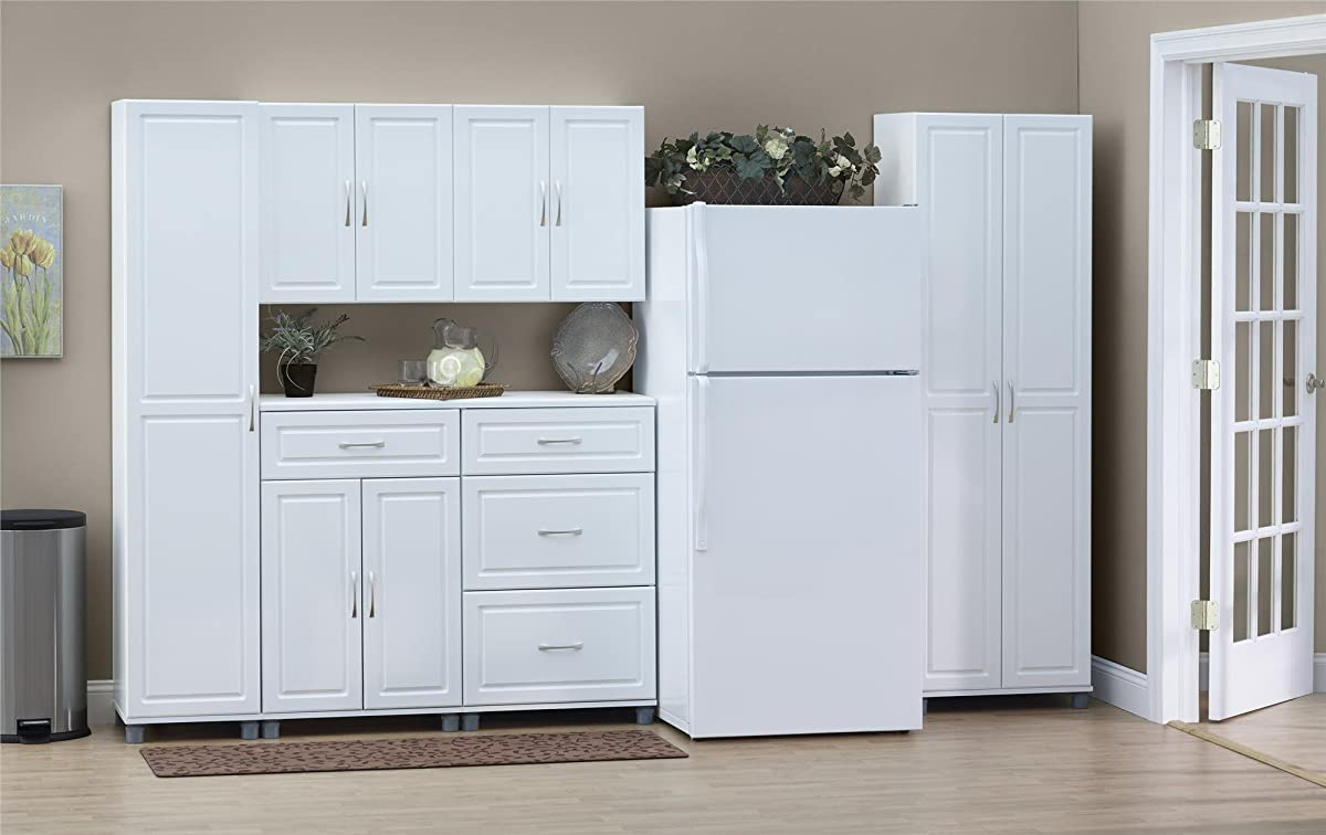 "SystemBuild Kendall 16"" Storage Cabinet, White Stipple"