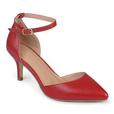 e5a591742e30 Journee Collection Women s Matte Ankle Strap Pumps Red
