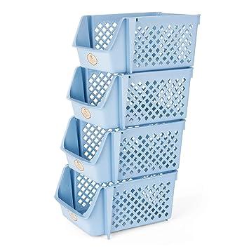 Titan Mall alimentos cajas de almacenamiento apilables Cajas de almacenamiento para frutas, archivos, cervezas