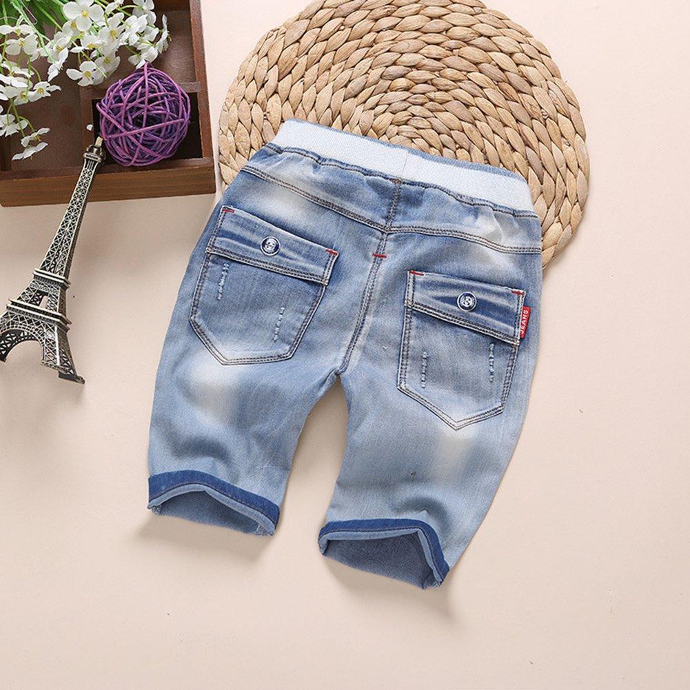 Kidscool Summer Baby Boys//girls Soft Elastic Waist Denim Shorts