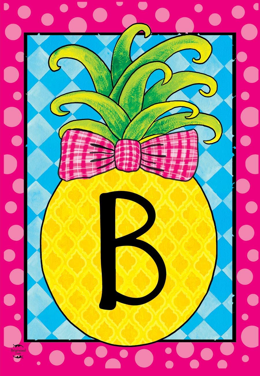 Briarwood Lane Pineapple Monogram Letter B Garden Flag Everyday 12.5