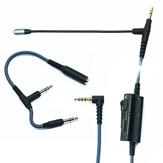 Amazon.com: Gaming Mic, Audio Cable adapter with Boom Microphone ...