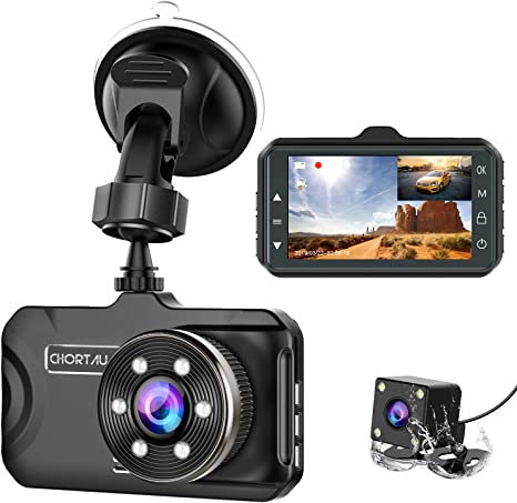 Dash Camera for Cars 360 Degree Wide Angle 1080P Full HD Dash Cam Front and Rear Car DVR 5 inch IPS Touch Screen G-Sensor Parking Monitor Loop Recording Motion Detection Super Night Vision Reverse