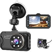 Dash Cam Front and Rear CHORTAU Dual Dash Cam 3 inch Dashboard Camera Full HD 170°… photo