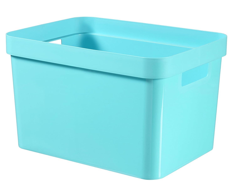 35,6x26,6x21,8 cm Bleu CURVER 226735 Bac Infinity 17L Plastique
