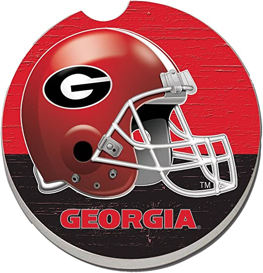 NCAA Georgia Helmet Absorbent Car Coaster