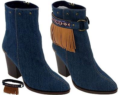 EU36 Desigual 18wstd02 Femme Jeans Bottine Folk 5 UK3 qfXv6wf