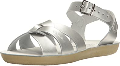 f08a0f70f Salt Water Sandals by Hoy Shoe Girls' Sun-San Swimmer Flat Sandal, Silver