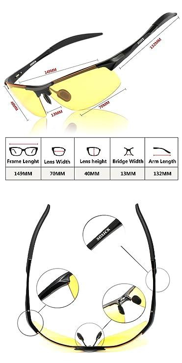 Gafas de conducción nocturnas HD antideslumbrantes, antireflectantes para conducir en días lluviosos; gafas de sol deportivas polarizadas, negro: Amazon.es: ...