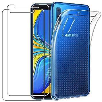 YOOWEI para Samsung Galaxy A7 2018 Funda + [2-Pack] Cristal ...