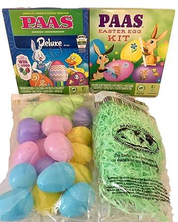 Amazon Com Paas Easter Egg Coloring Kits 2 Each Plastic Eggs