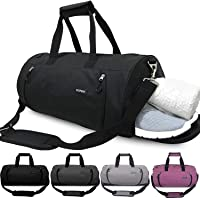 Updated 20'' Sports Gym Bag with Shoes Compartment & Wet Pocket Waterproof Travel Duffel Bag for Men and Women