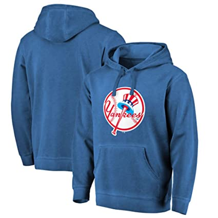 New York Yankees Fanatics - Sudadera con capucha, diseño de Forbes, color azul marino