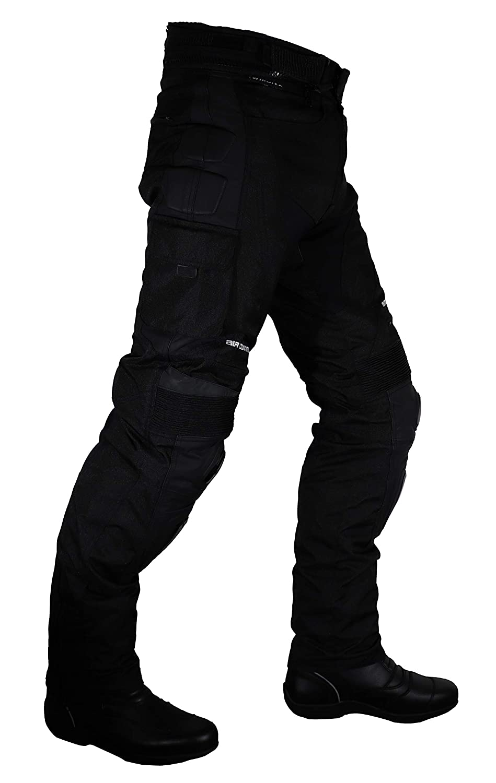 Noir Roleff Racewear Pantalon Moto Textile//Mesh et Cuir S