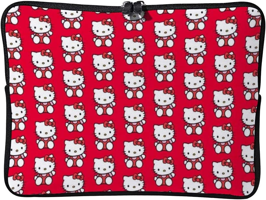 Red Hello Kitty Laptop Bag Protective Case Notebook Computer Pocket Case Zipper Bag 12inch
