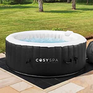 COSYSPA Inflatable Hot Tub – Luxury Outdoor Bubble Spa | 2-6 Person Capacity – Quick Heating (Hot Tub (4 Person) + 6 Filters)