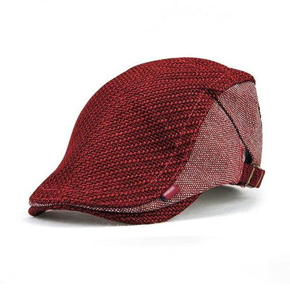 Impression 1 PCS Boinas Ocio Retro Hat Gorra de golf Sombrero de Sol Deporte al Aire Libre Primavera Verano para Unisex Hombre Mujer ecQqVe5