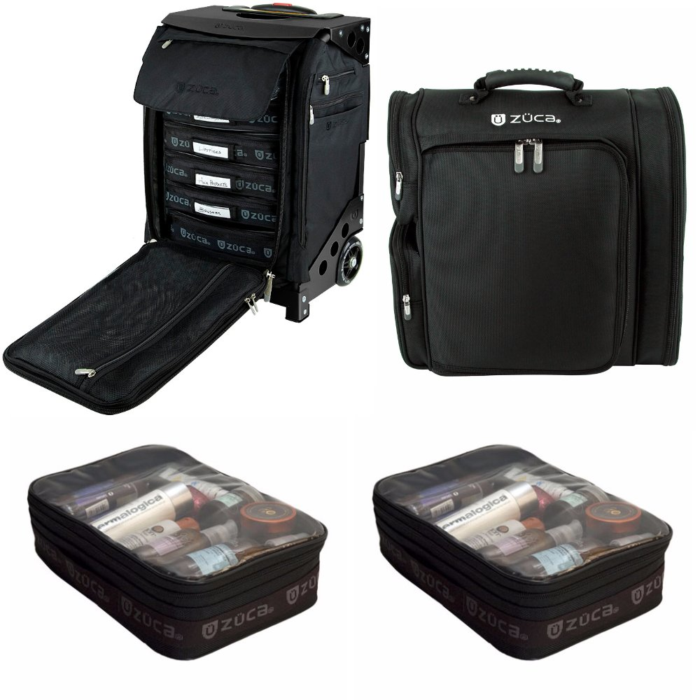 Zuca Professional's Kit: Flyer Case with Built-In Seat, and Artist Backpack with Extra Pouches by ZUCA